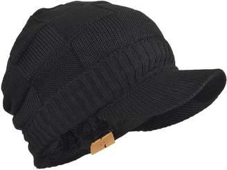 57c88c772d4 FORBUSITE Mens Fleece Knit Visor Beanie for Winter Cap Hat B322