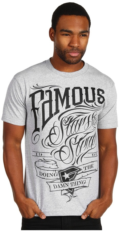 Famous Stars & Straps True Grit Tee (Anthracite Heather/Black) - Apparel