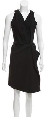 Lanvin Knotted Linen-Blend Dress