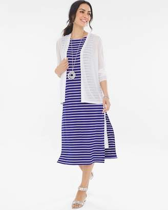 Striped Double-Layer Dress
