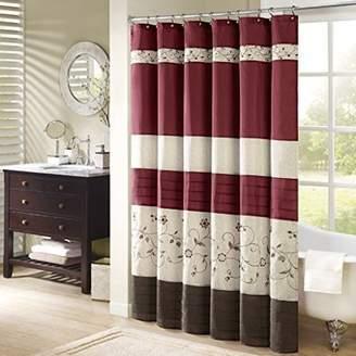 Madison Home USA Home Essence Monroe Embroidered Shower Curtain