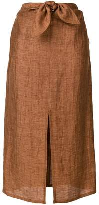 Masscob bow waist mid skirt