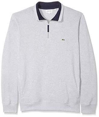 Lacoste Men's Long Sleeve SEMI Fancy Front Zip Sweatshirt