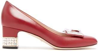Gucci Madelyn crystal-embellished leather pumps