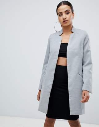 Missguided longline coat in grey