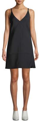 Helmut Lang V-Neck Sleeveless Nylon Mini Dress