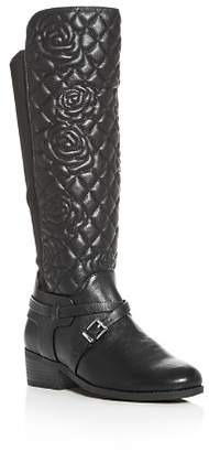 Vince Camuto Girls' Baez Floral Quilted Boots - Toddler, Little Kid, Big Kid
