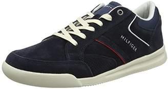 Tommy Hilfiger Men's Corporate Detail Suede Sneaker Low-Top
