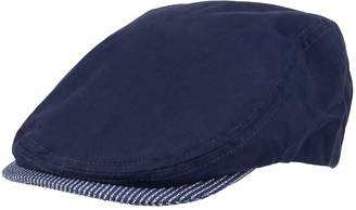 Dockers Men's Combed Cotton Ivy Cap with Striped Brim