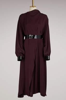 Maison Margiela Asymmetrical Dress with Silk Details