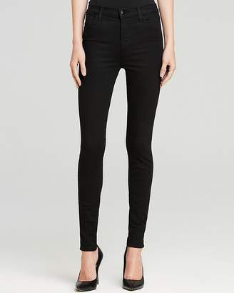 J Brand Maria High Rise Skinny Jeans in Seriously Black $198 thestylecure.com