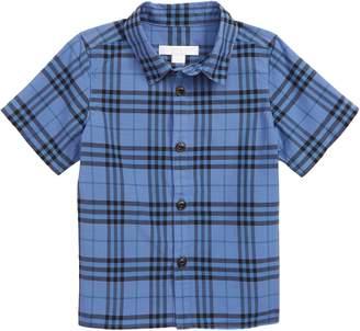 Burberry Sammi Dye Plaid Woven Shirt