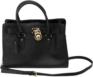 Michael Kors Hamilton Black Leather Handbag