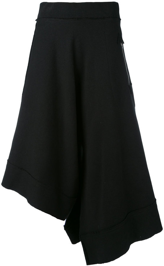 Y'sY's asymmetric cropped trousers