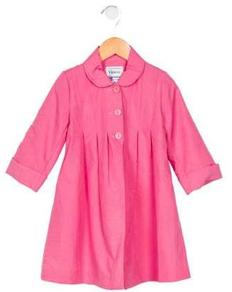 Florence Eiseman Girls' Collared Button-Up Jacket