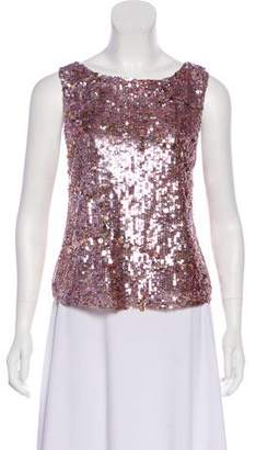 Alice + Olivia Sequin-Accented Sleeveless Top