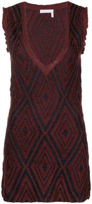 See by Chloe deep V-neck dress