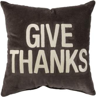 PRIMITIVES BY KATHY Give Thanks Velvet Accent Pillow