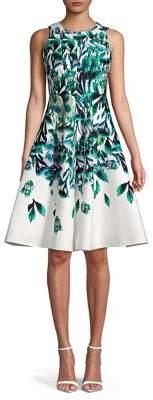 Gabby Skye Floral Spread Fit-&-Flare Dress