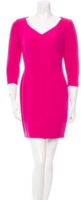 Kenzo V-Neck Long Sleeve Dress Magenta V-Neck Long Sleeve Dress