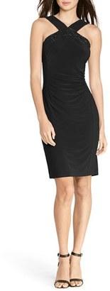Lauren Ralph Lauren Beaded Jersey Sheath Dress $174 thestylecure.com