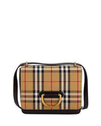 Burberry Small D-Ring Check Crossbody Messenger Bag