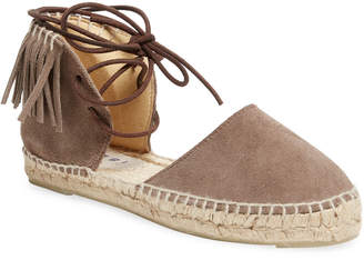 Manebi Fringed Leather Espadrille Sandal