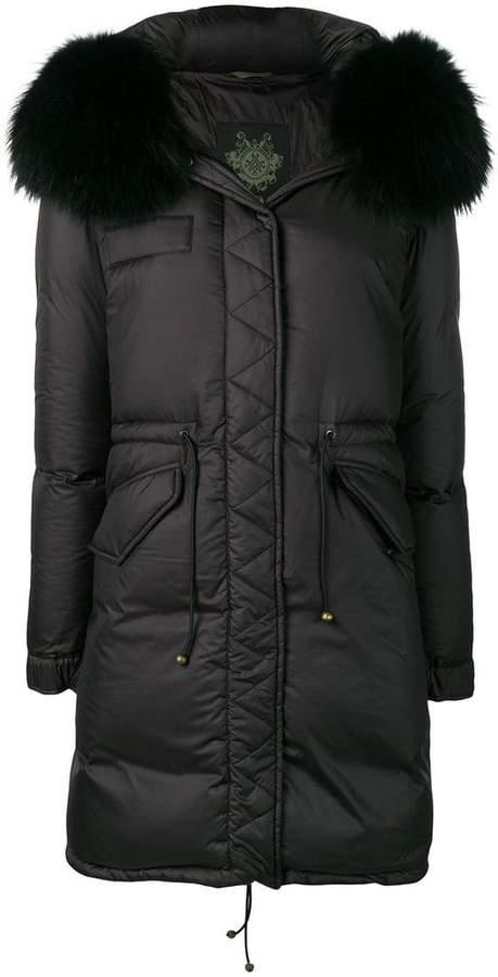 fur-trim parka coat