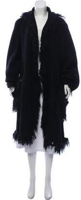 Fendi Vintage Shearling-Trimmed Wool Coat