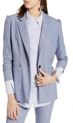Halogen Stretch Woven Suit Blazer