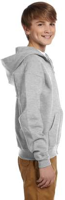 Ash Jerzees Youth Nublend Full-Zip Hooded Sweatshirt,