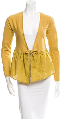 Vera Wang Flounce Tie-Front Cardigan $140 thestylecure.com