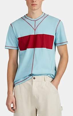 Craig Green Men's Contrast-Stitched Colorblocked Cotton T-Shirt - Lt. Green