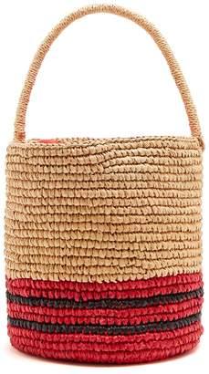 SENSI STUDIO Stripe toquilla-straw basket bag