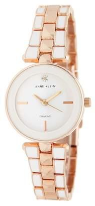 Anne Klein Women's Diamond Mother of Pearl Bracelet Watch, 28mm - 0.05 ctw
