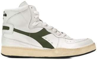 contrast logo hi-top sneakers