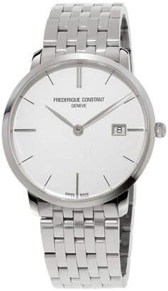 Frederique Constant Men's 38.4mm Classics Slimline Midsize Stainless Steel Date Bracelet Watch