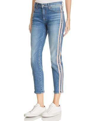 7 For All Mankind Roxanne Side-Stripe Skinny Jeans in Vintage Blue Dunes