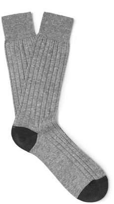 Pantherella Hamada Two-Tone Ribbed Knitted Socks