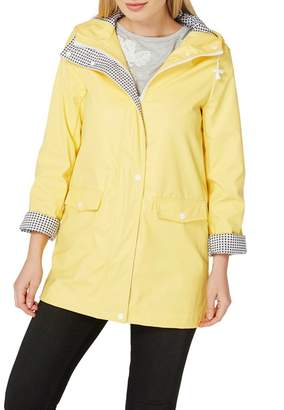 Dorothy Perkins Yellow Button Front Raincoat