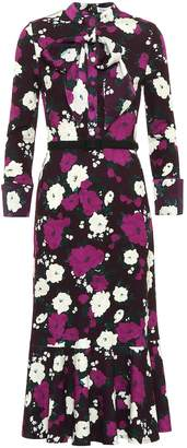 Erdem Hilma floral ponte midi dress