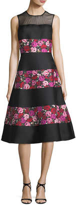 Kate Spade Sleeveless Salon Rose Palma Fit-And-Flare Dress
