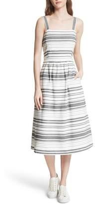 Joie Cabeza Stripe Backless Cotton Sundress