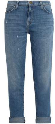 Current/Elliott Faded High-Rise Straight-Leg Jeans