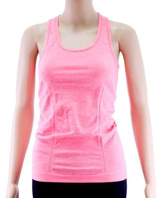Acappella Women's Yoga Tank Tops Stretchy Activewear Tops Long Workout Shirts Racerback Quick Dry Coral - M
