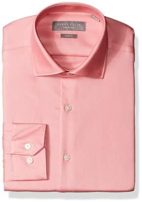 Perry Ellis Men's Slim Fit Solid Non-Iron Dress Shirt
