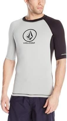 Volcom Men's Colorblock Short Sleeve Rashgaurd