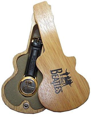 Apple The Beatlesゴールドロゴとベゼルウォッチの木製ギターディスプレイケース
