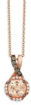 LeVian Chocolatier Peach, Vanilla & Chocolate Pendant Necklace