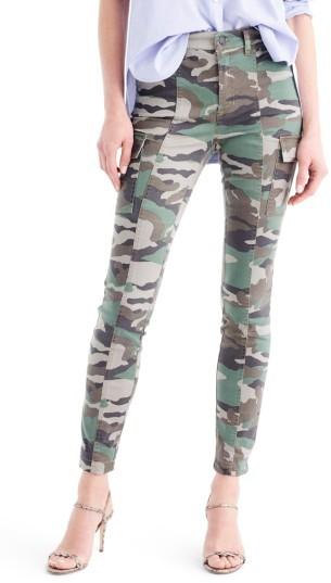 Women's J.crew Camo Skinny Cargo Pants